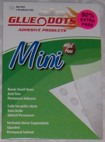 Mini Glue Dots -Permanent Adhesive 64 x 6 mm Wallet